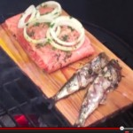 Cedar planked salmon & grilled sardines