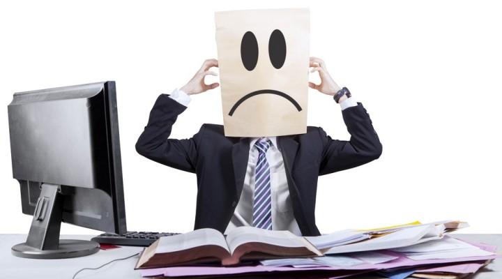 Employé de bureau victime du stress
