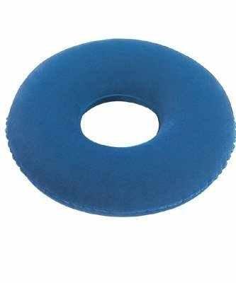 Bouée Médicale Gonflable PVC Nylon Rond Forme beignet Anneau Soulage Escarre + Pompe