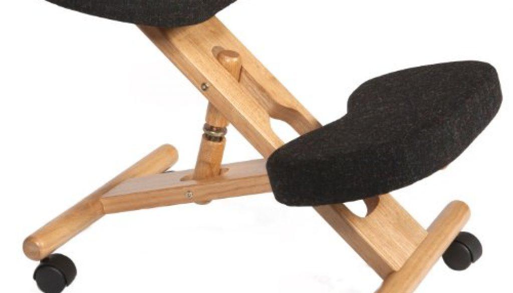 Si ge ergonomique gris roulettes tabouret posture dos for Chaise ergonomique repose genoux