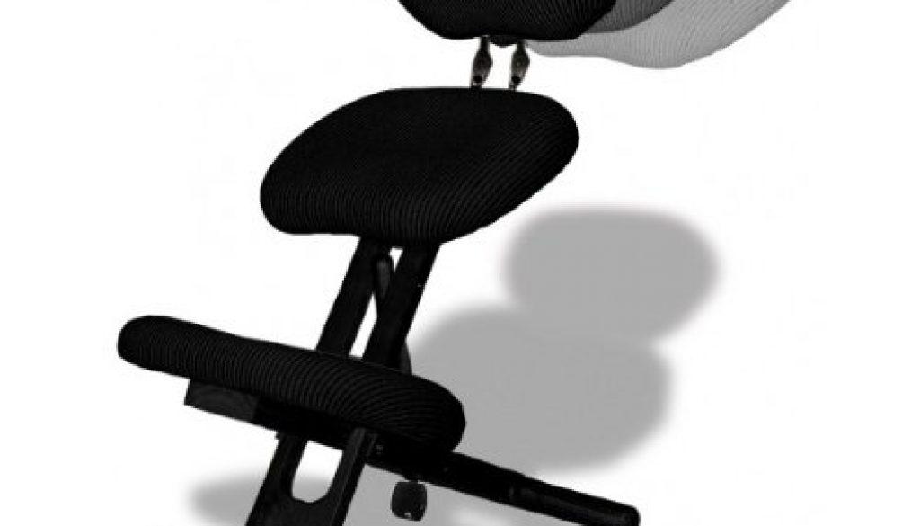 Chaise ergonomique professionnel avec dossier couleur noir for Chaise ergonomique repose genoux
