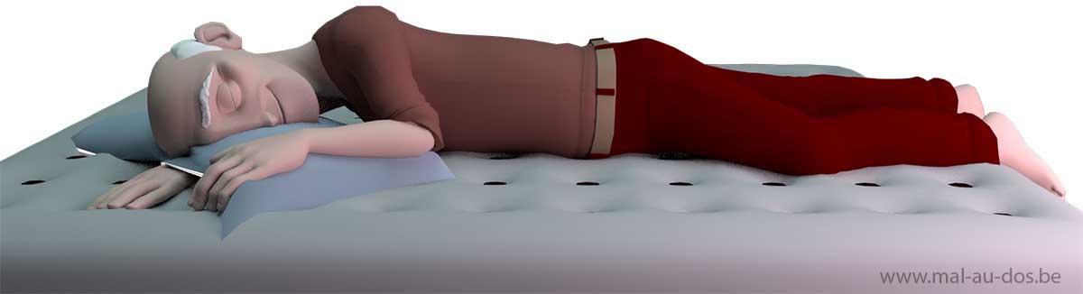 How to sleep with herniated disc & backpain
