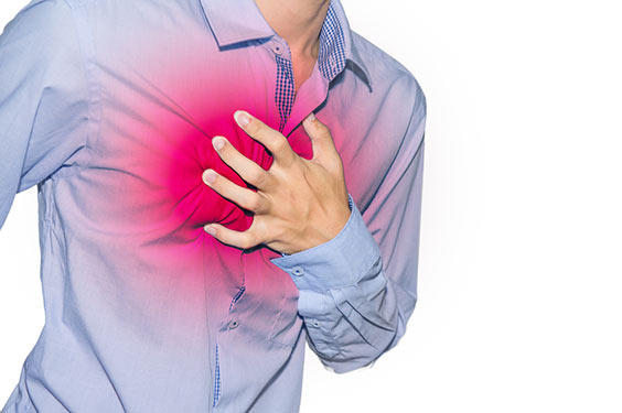 douleur poitrine stress anxiété