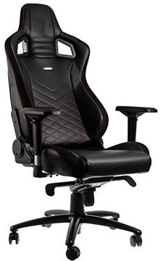 fauteuil de bureau gaming faux cuir noir rouge noblechairs. Black Bedroom Furniture Sets. Home Design Ideas
