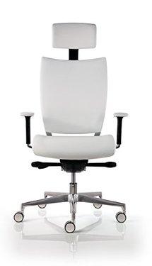 chaise de bureau cuir blanc