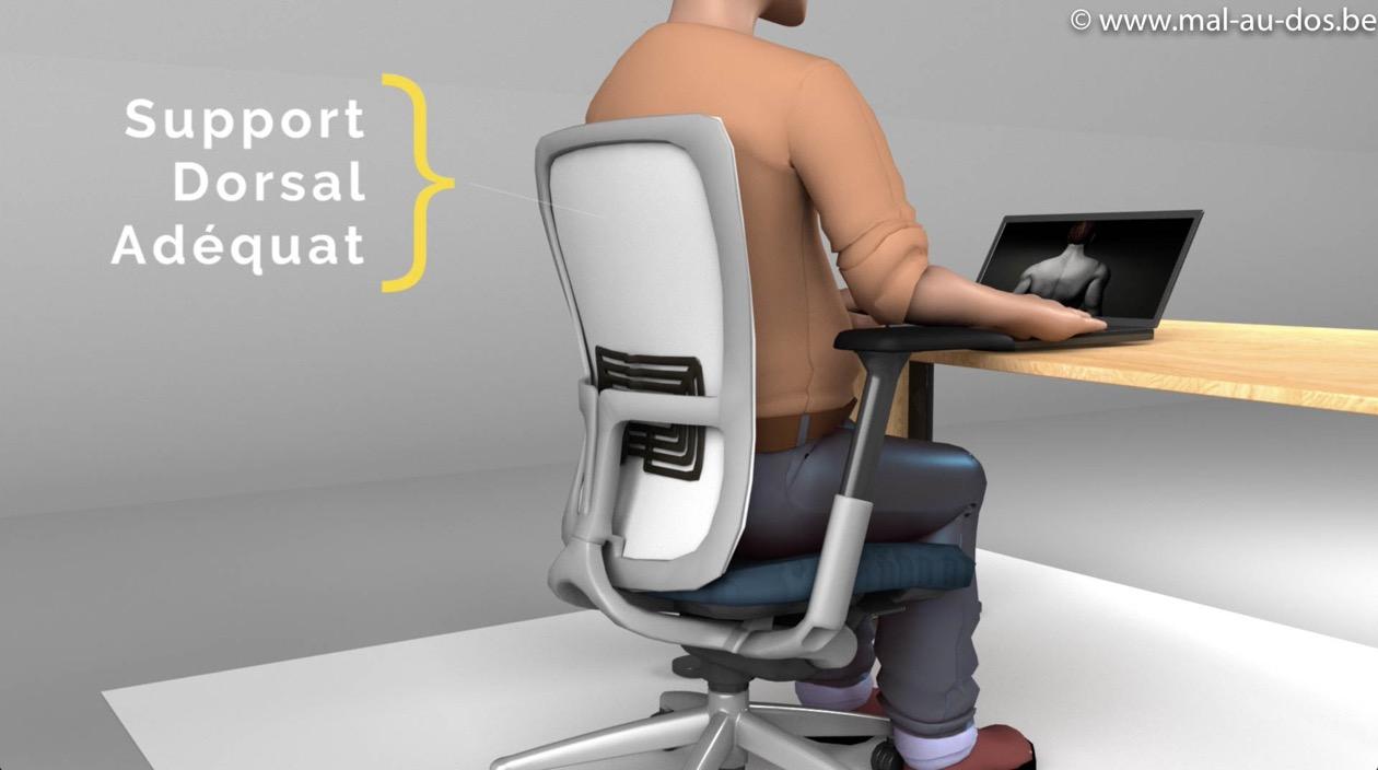 Siège de bureau avec un grand support dorsal