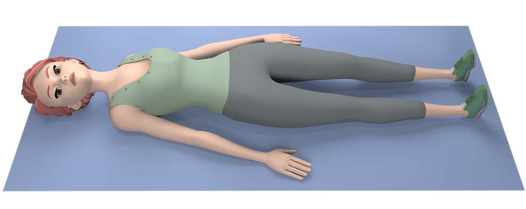 sciatic nerve stretch picture: start position