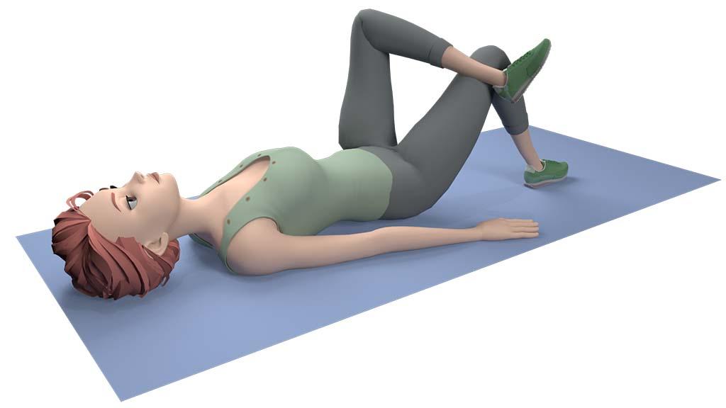 Sciatic nerve stretch step 2
