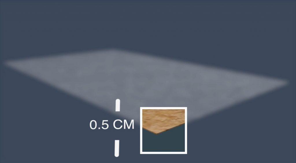 fine planche en bois mal de dos