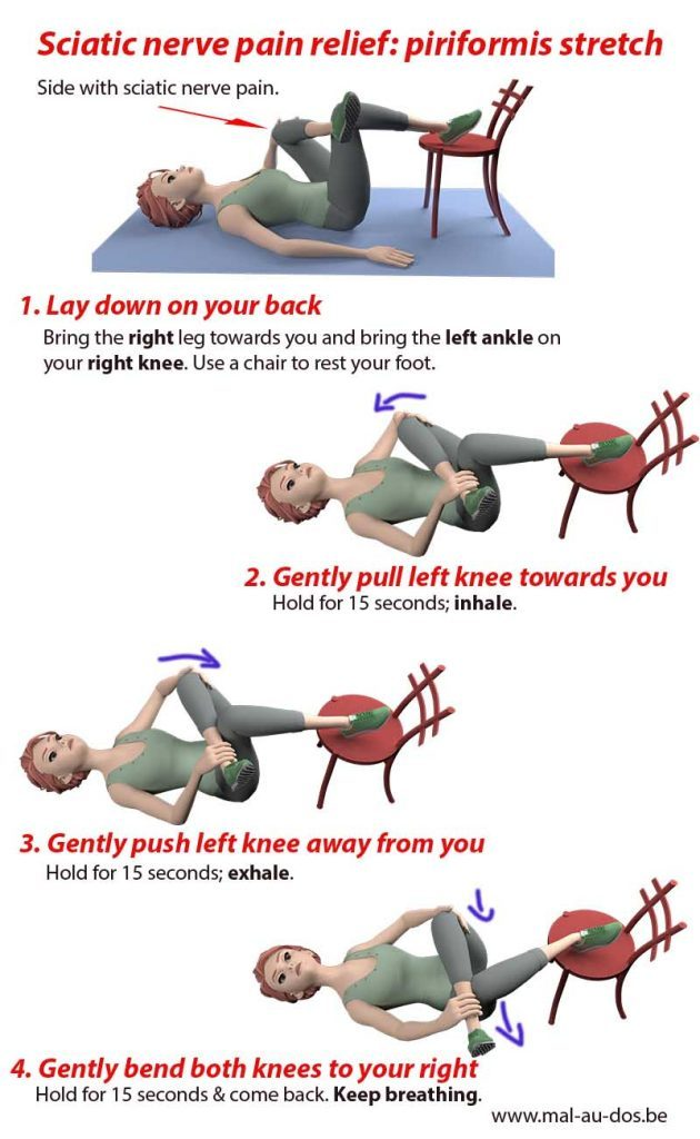 Sciatica pain relief: sciatic nerve stretch video