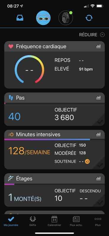 garmin vivo sport app connect
