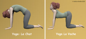 Yoga chat vache