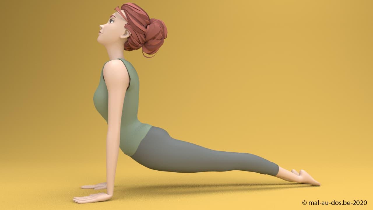 Yoga pourl e dos: posture du chien tête en haut