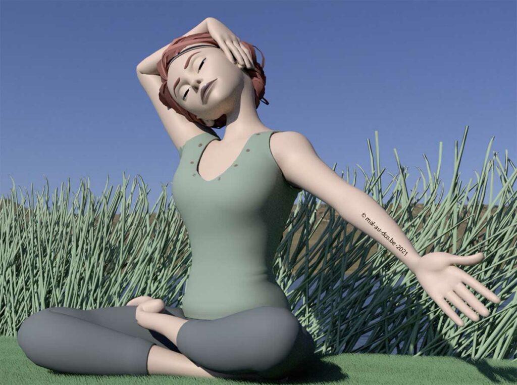 yoga étirement épaule gauche