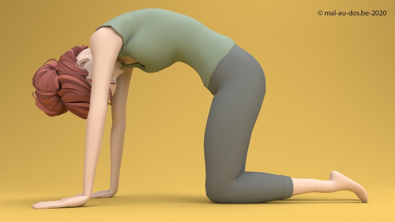 Yoga hernie discale: La osture du chat
