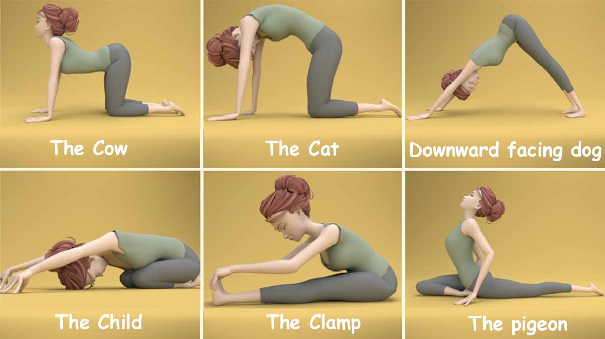 Great Yoga stretches for your back
