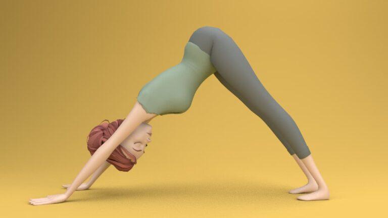 Yoga for the back: downward facing dog pose