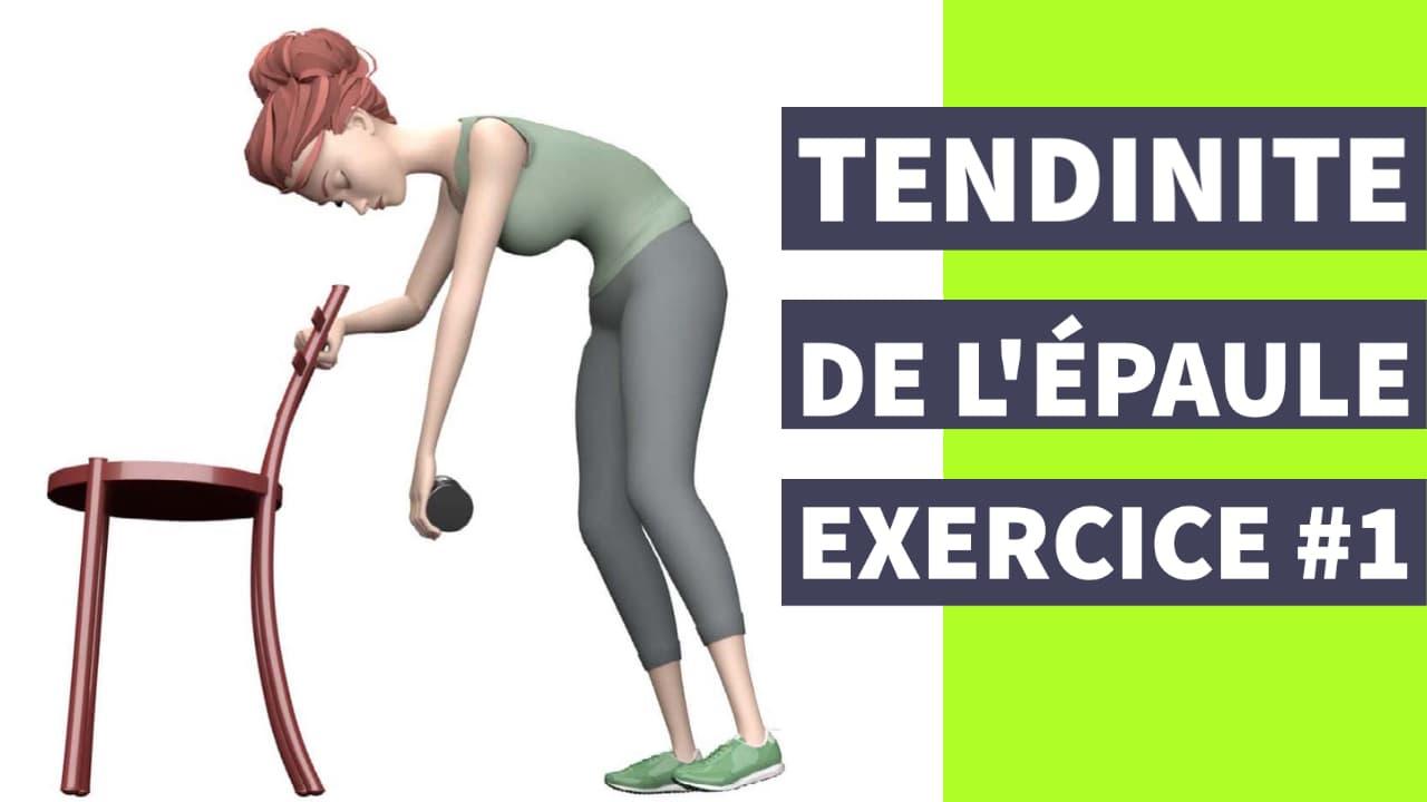exercice tendinite de l'épaule