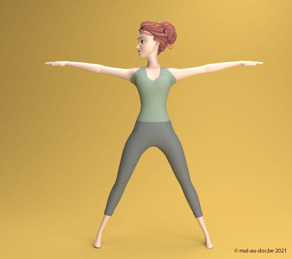 yoga posture du triangle #2