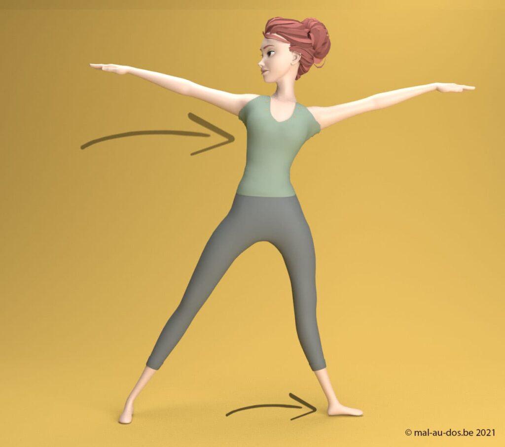 yoga postue du triangle #3