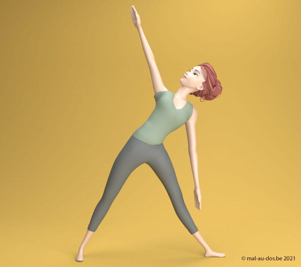yoga posture du triangle #3