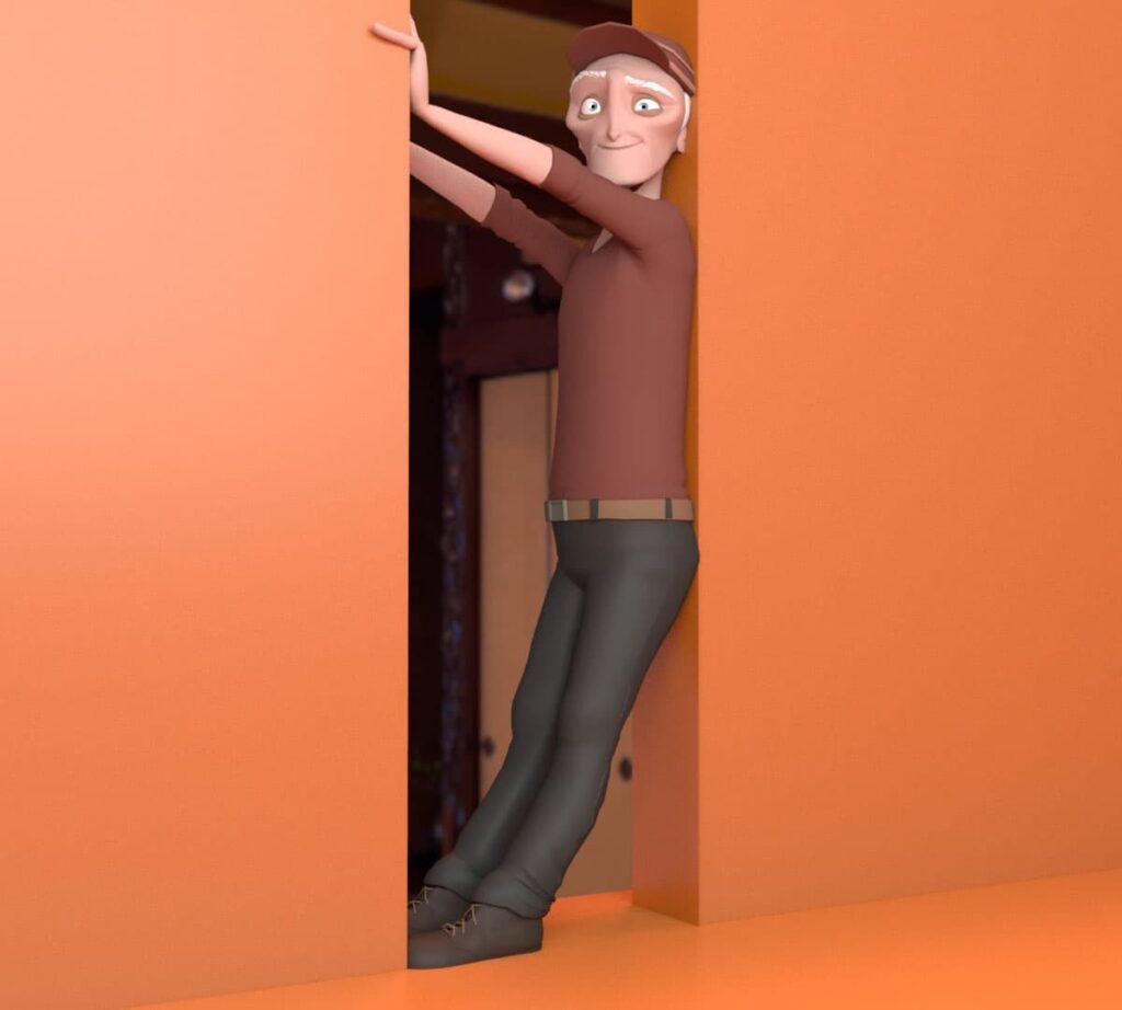 soulager son dos grace a un chambranle de porte