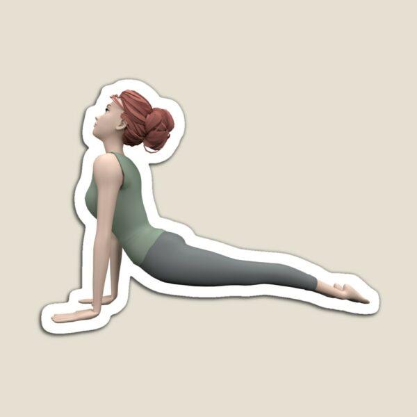 magnet yoga posture du chien tete en haut