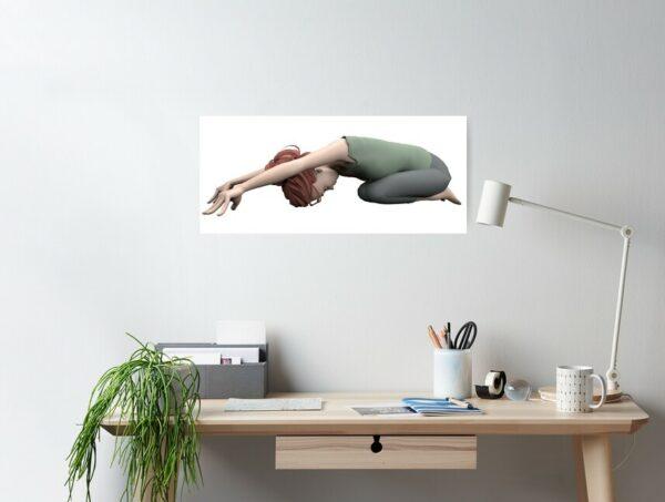poster yoga pose de l'enfant