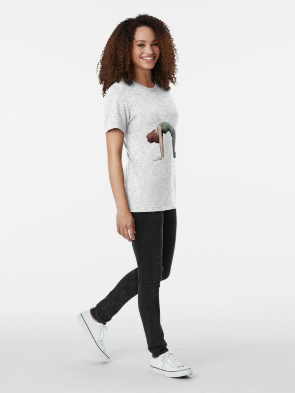 t-shirt yoga posture du chat femme