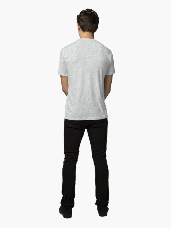 t-shirt yoga posture du chat homme de dos