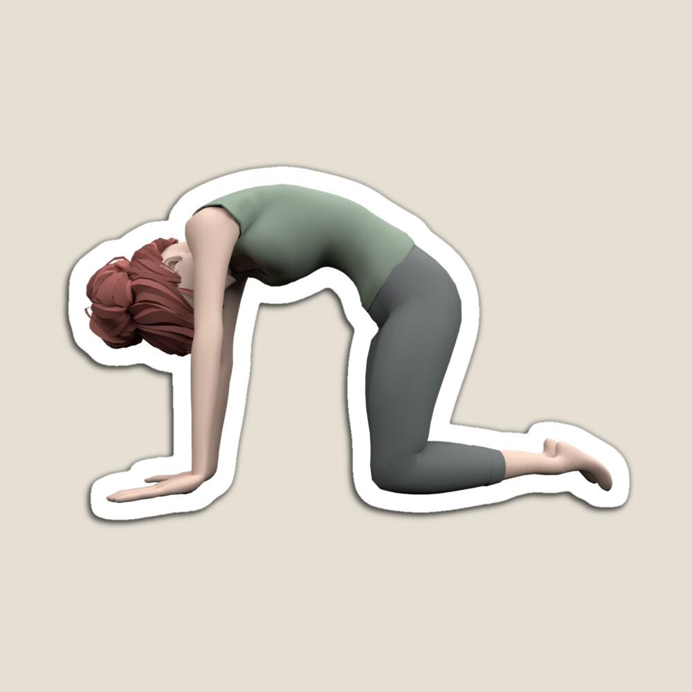 Magnet Yoga pose du chat