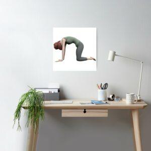Poster Gwen Yoga La pose du Chat