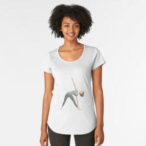 yoga posture du triangle-t-shirt-premium échancré